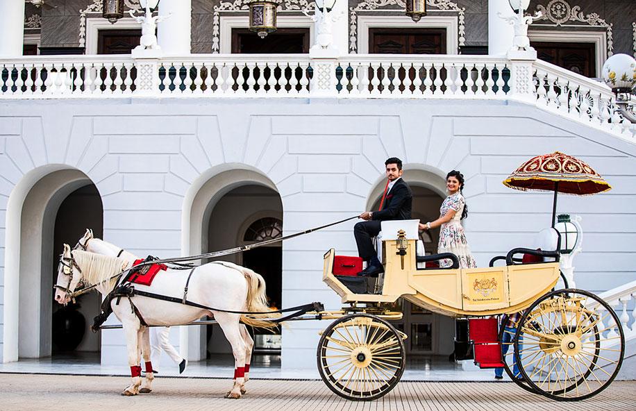 Ishita and Aditya, Taj Falaknuma Palace, Hyderabad