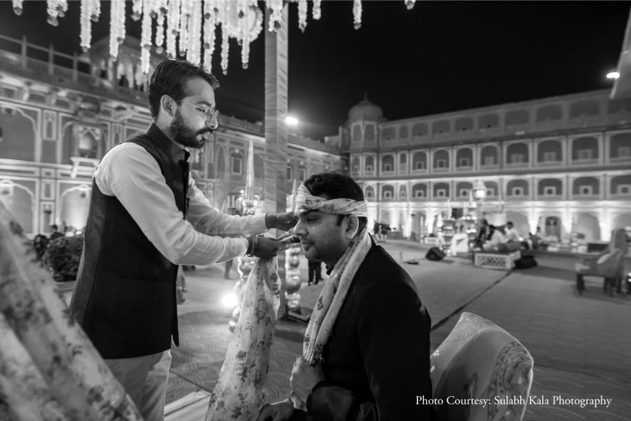 Nikita and Prateek, City Palace, Jaipur