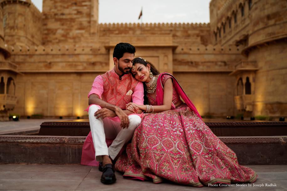 Varshini and Rohit, Suryagarh Jaisalmer, Rajasthan