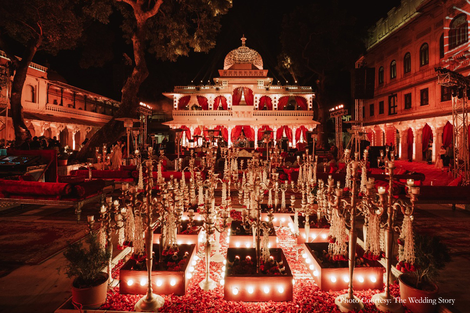 Rutuja and Sanket, Jagmandir Island Palace, Udaipur