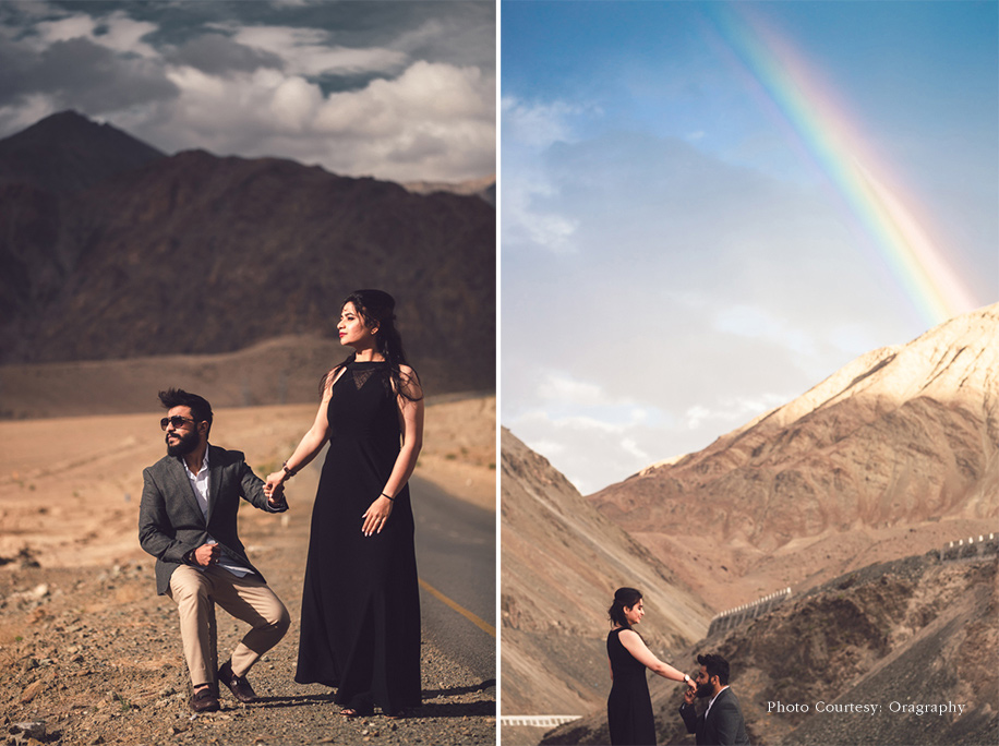 A Spectacular Pre-Wedding Photoshoot in Snow Capped Ladakh!