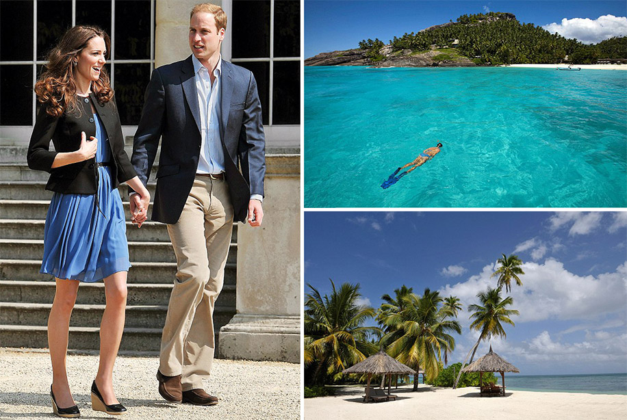 Prince William and Kate Middleton, Honeymoon in Seychelles