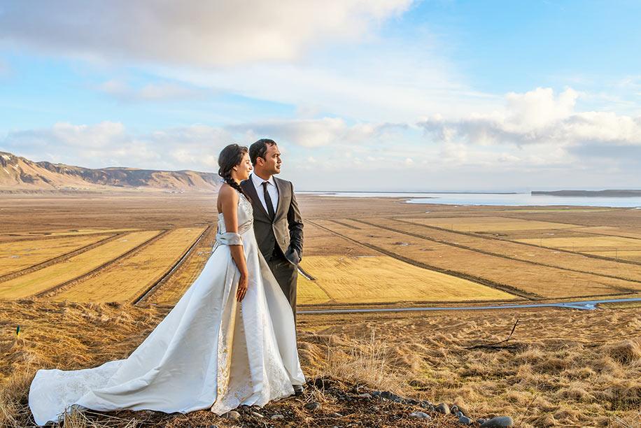 Dipti and Yogi's adventurous post wedding photoshoot in Nordic Heaven!