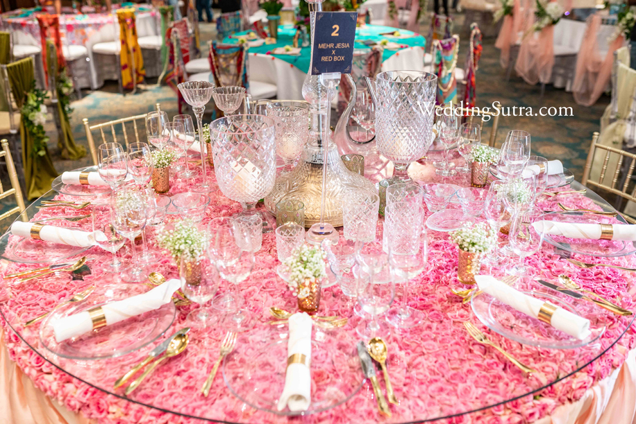 Concept Tables at WeddingSutra Influencer Awards 2019 by Mehr Jesia X Red Box