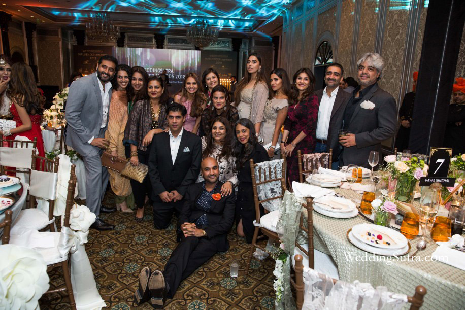 Winners and Guests at the WeddingSutra Influencer Awards 2018