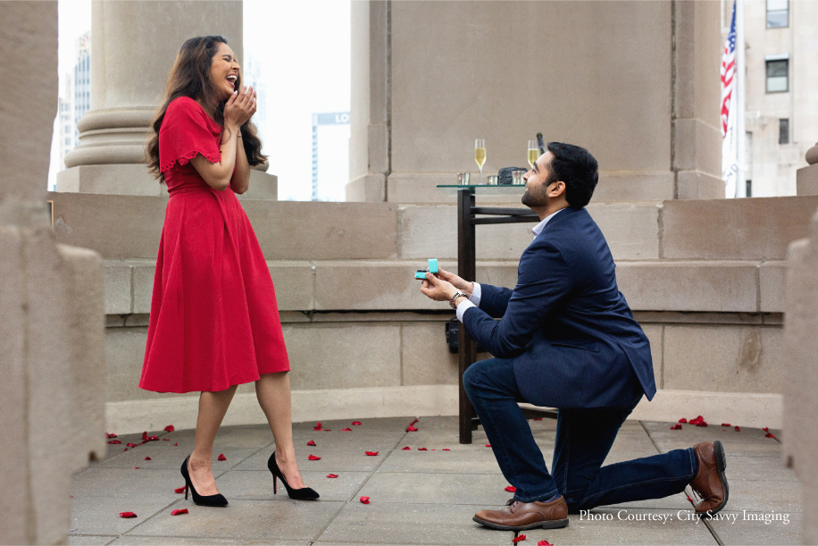 A Dreamy Rooftop Proposal In Chicago