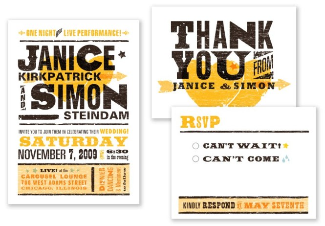 Concert Poster Wedding Invitations