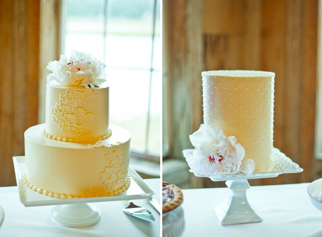 Yellow Wedding Cake Inspiration Small Yellow Wedding Cakes from this southern wedding  Photo Source      Heather ForsythePin it