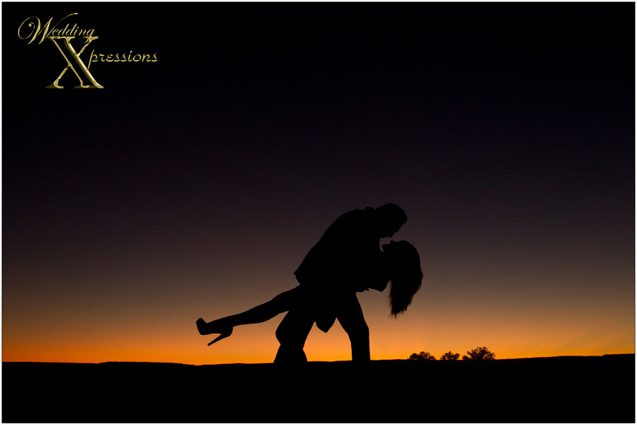 Engagement session silhouette photography