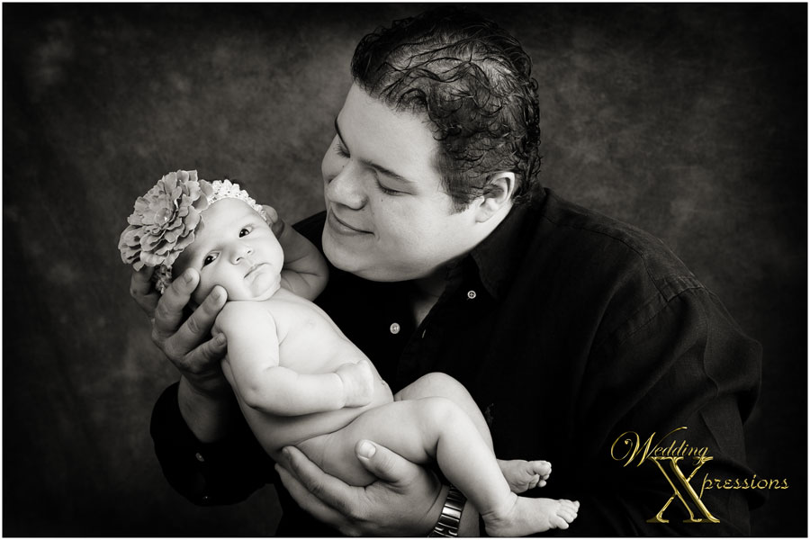 dad with baby portraits photography
