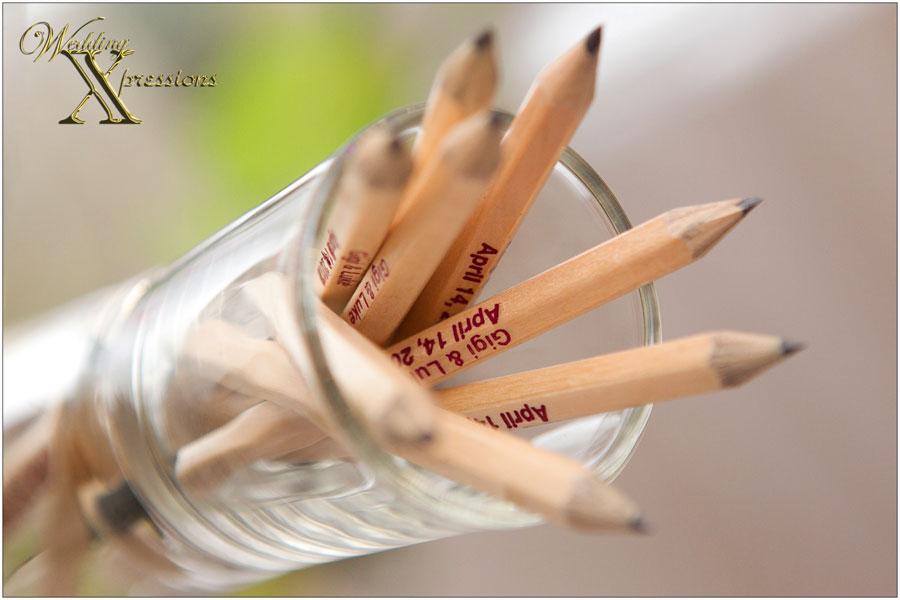 wedding custom pencils