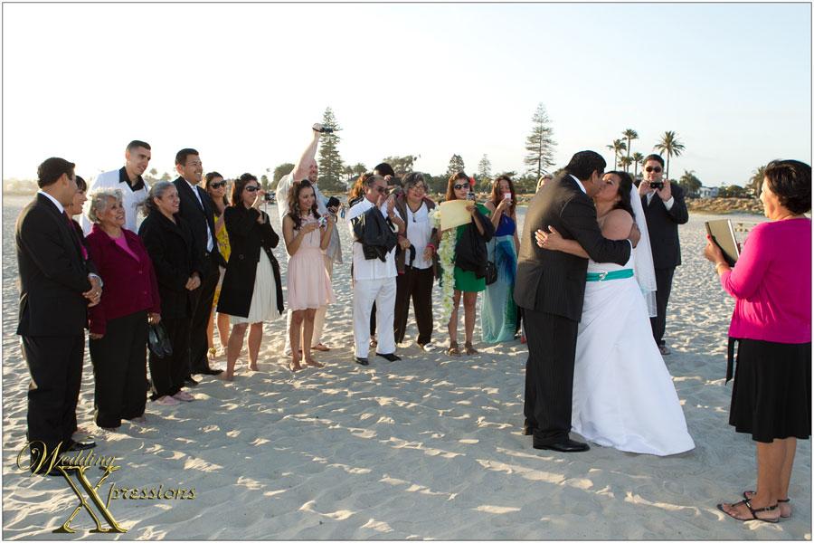 Coronado Island beach wedding