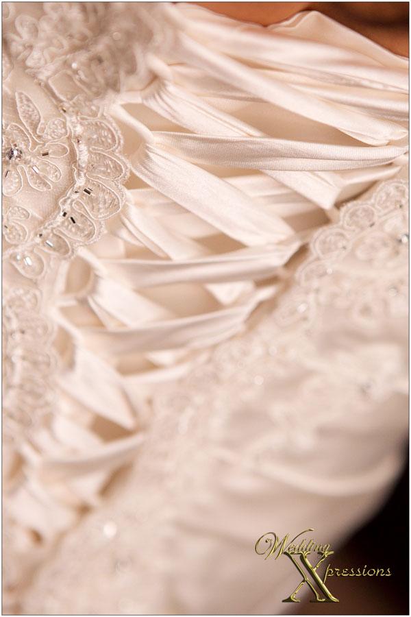 wedding dress tie back