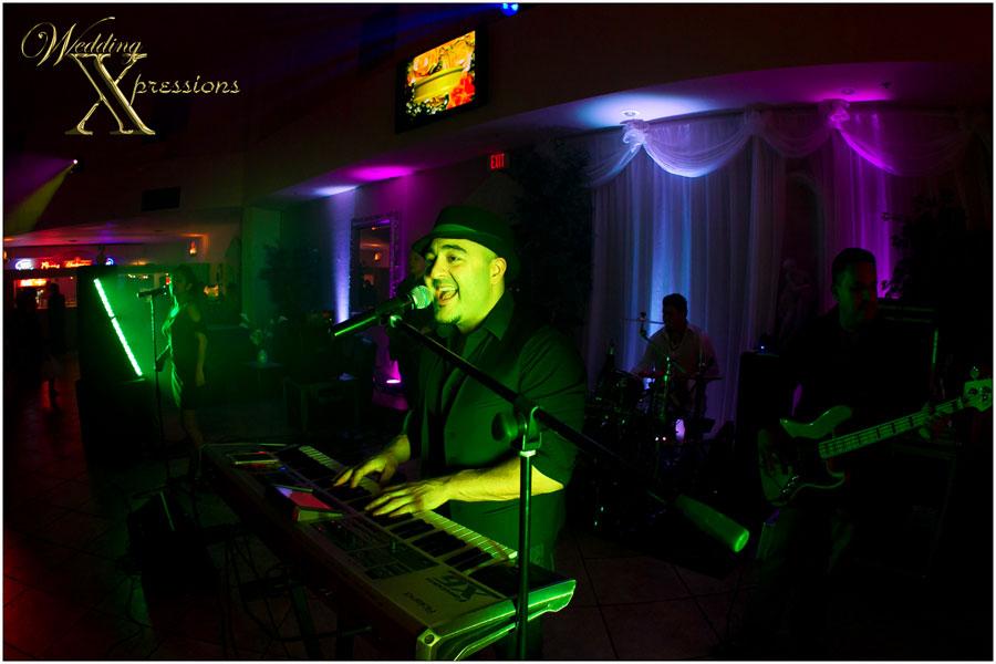 live band playing at wedding reception