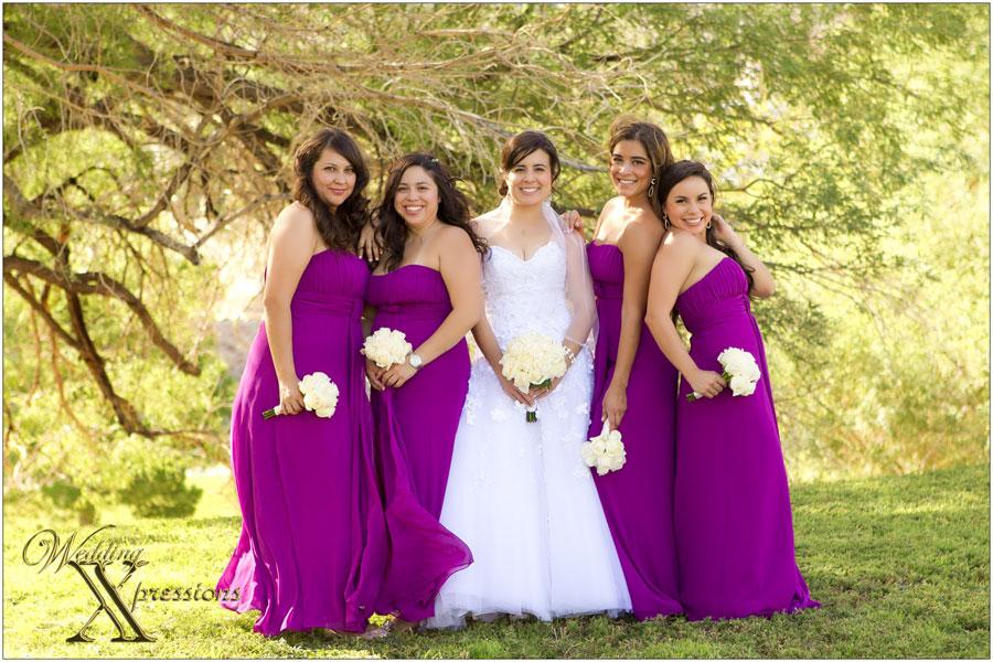 bridesmaids during El Paso wedding