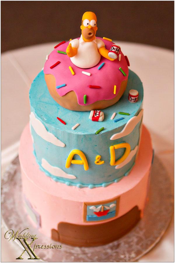 Simpson's Homer grooms cake