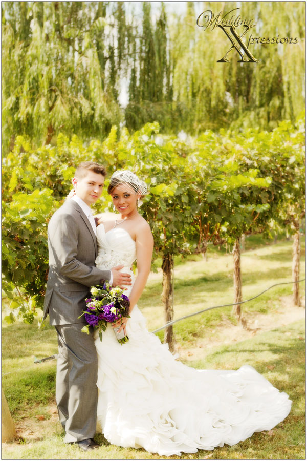 wedding photography at local winery