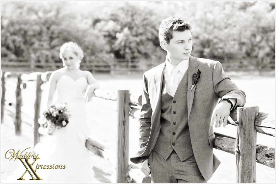 groom and bride in black and white fashion photo