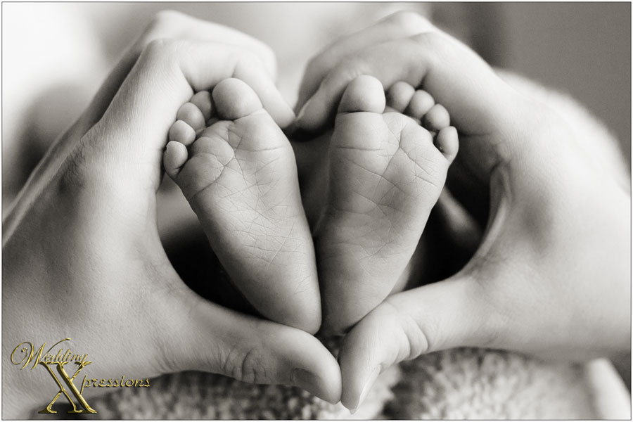 newborn baby feet heart