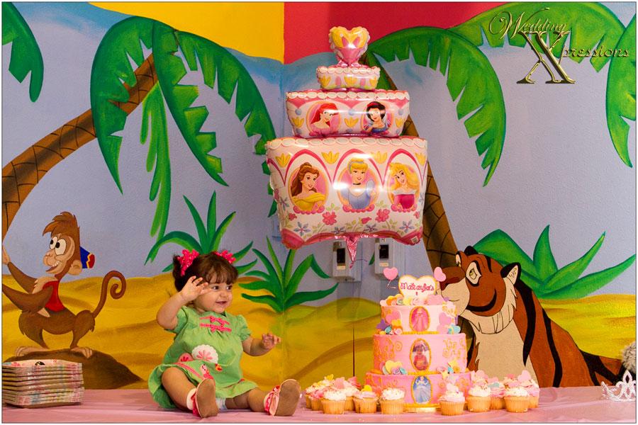 with birthday cake