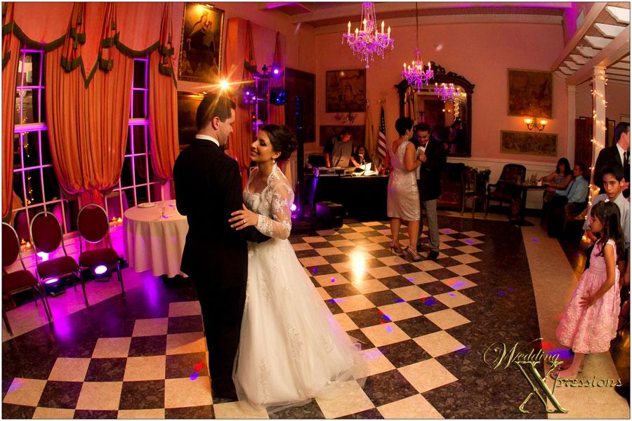 Couple dancing during wedding