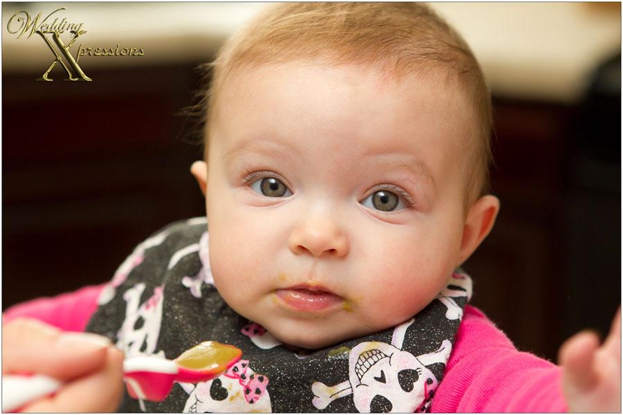 Sophie eating
