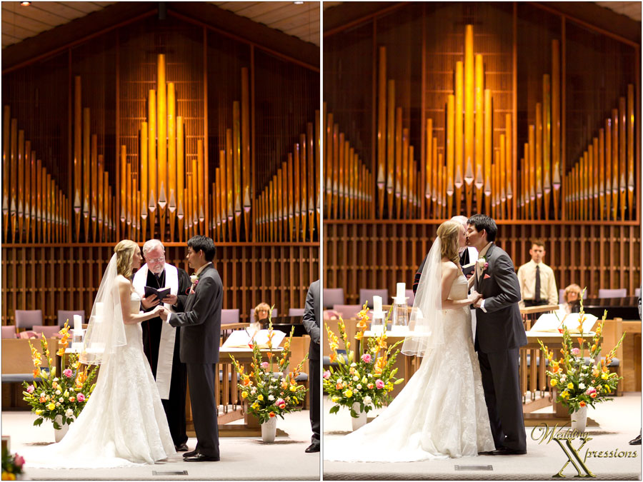 wedding vows and kiss