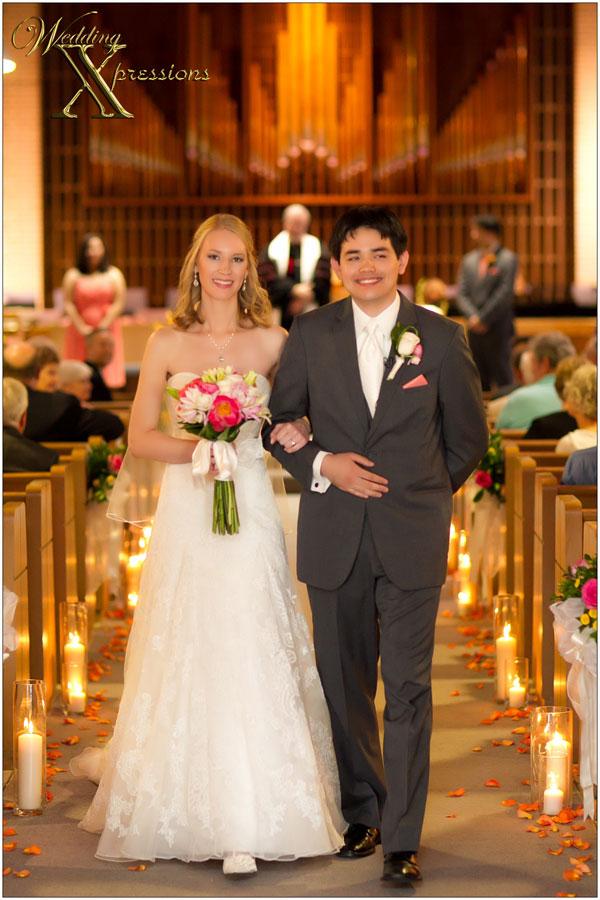 wedding church exit