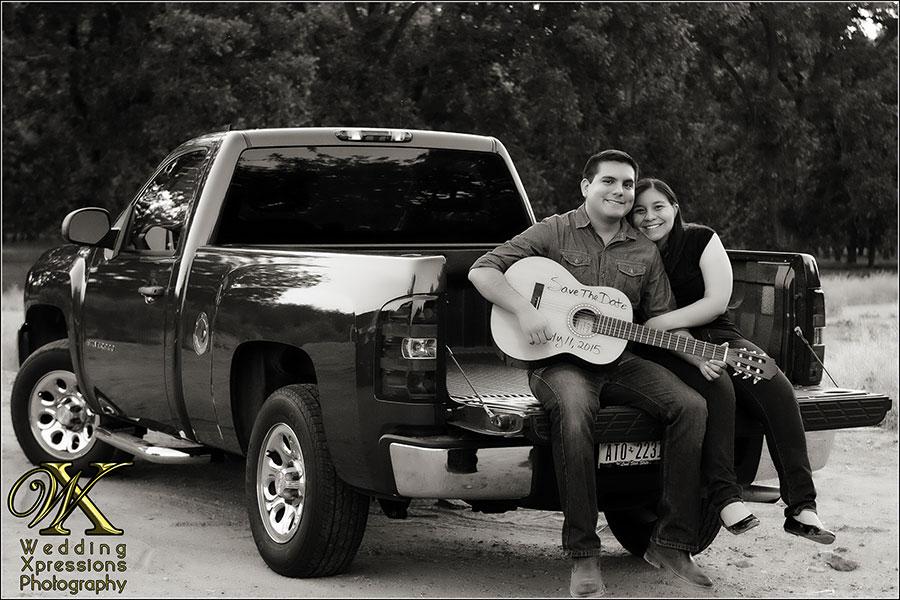 couple on truck