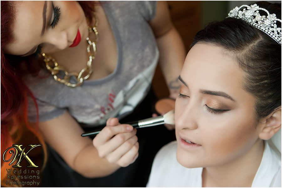 Bridal makeup photography