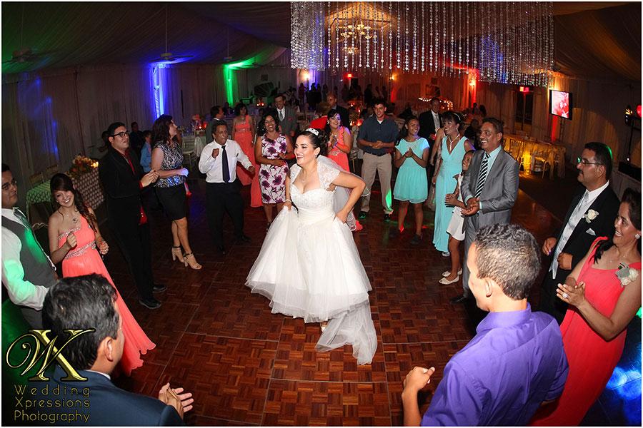 wedding reception dance at Grace Gardens