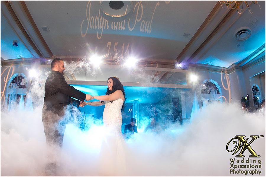 wedding first dance on cloud