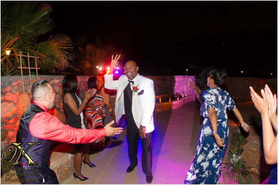 wedding couple dancing at night outdoor wedding