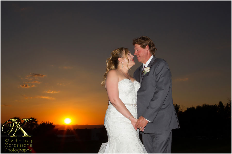 Tom & Patsy with sunset