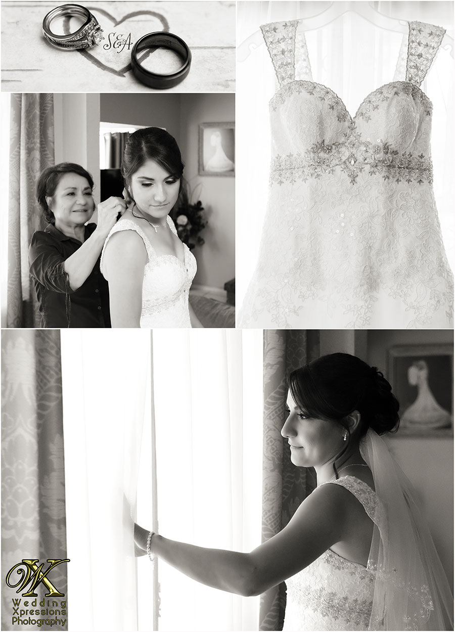 wedding photography of bride getting ready