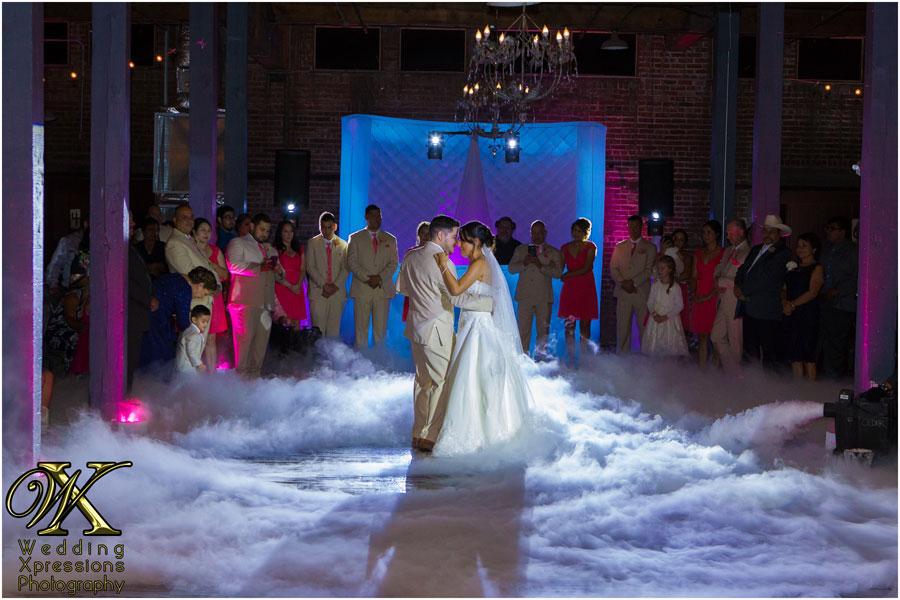 wedding first dance at EPIC Railyard in El Paso