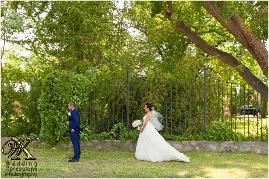 wedding first look in El Paso