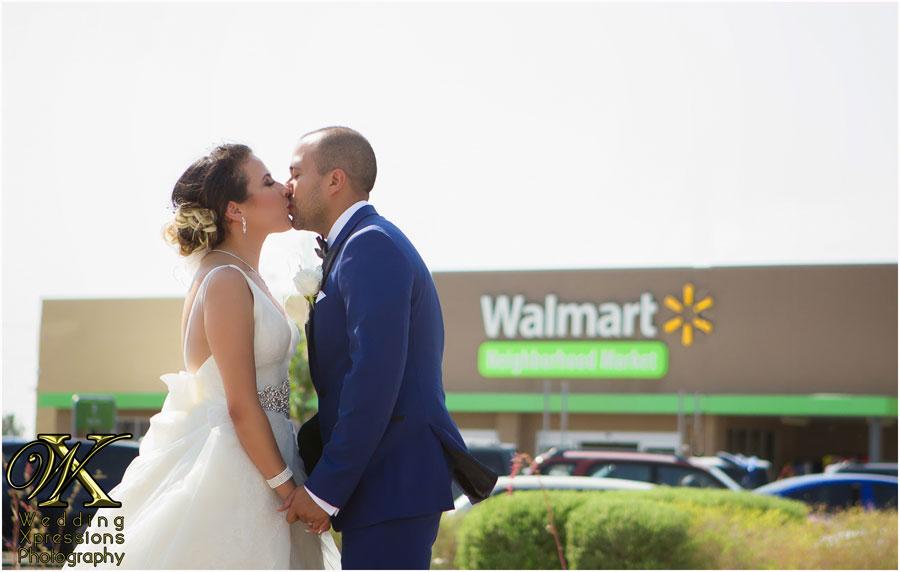 wedding couple at Walmart