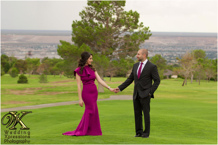 engagement session at golf course