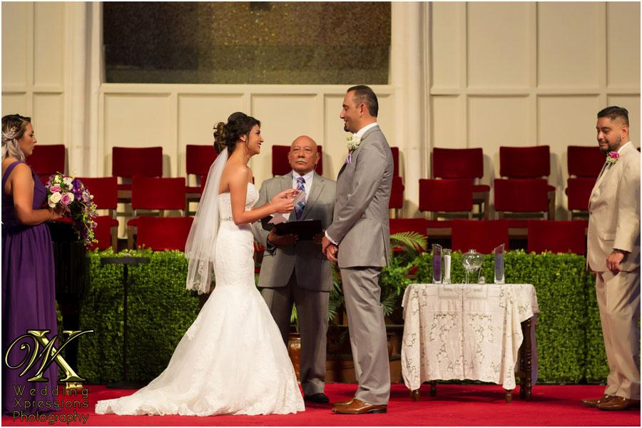 brides says her wedding vows