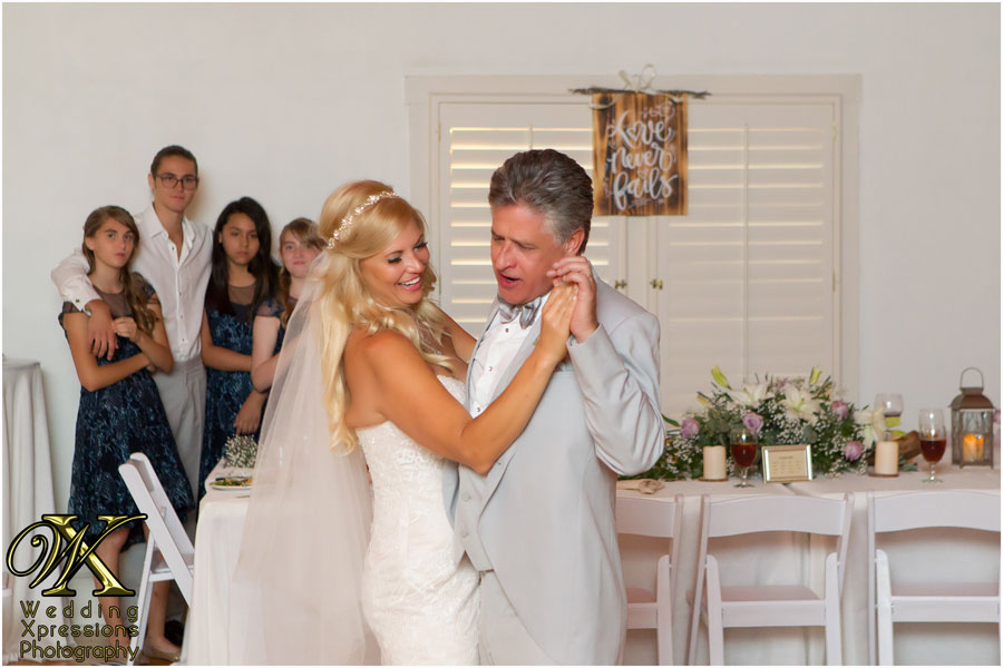 wedding first dance at Los Portales
