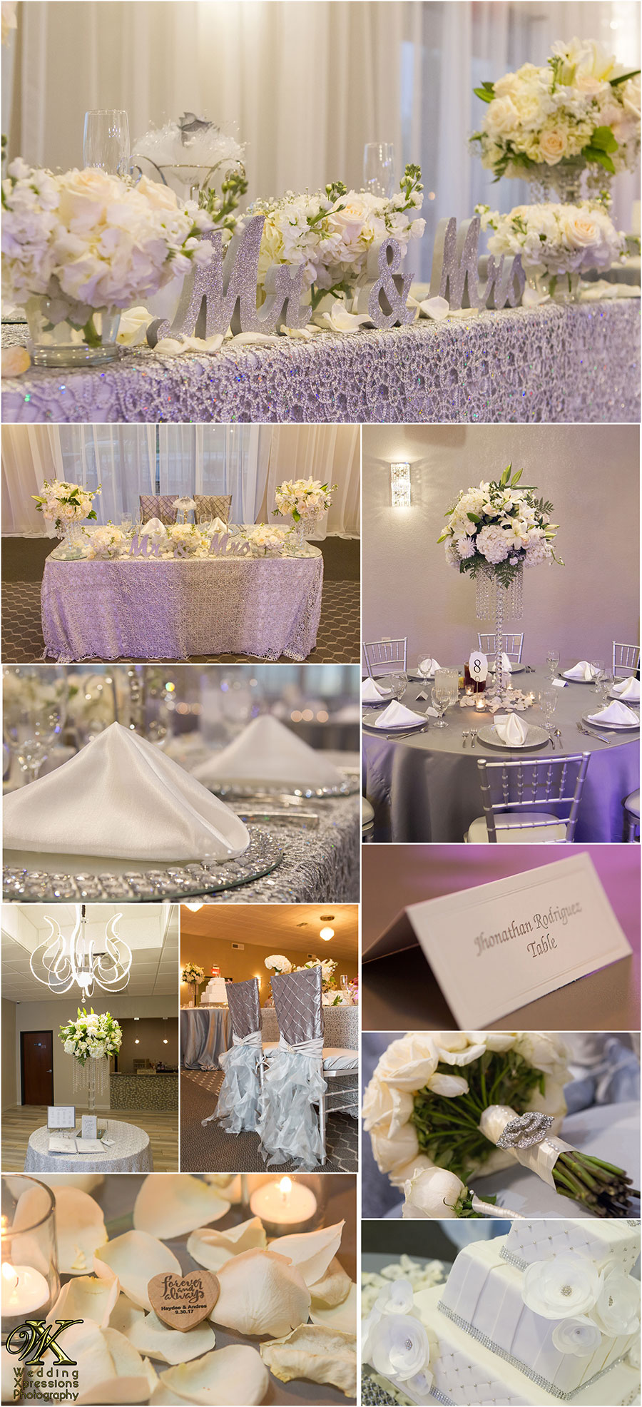 wedding details of Grace Gardens