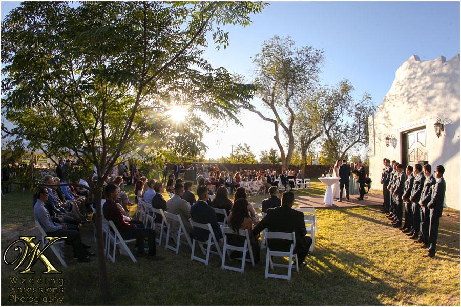 wedding ceremony at Los Portales in El Paso