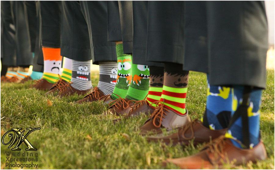 funny colorful groomsmen socks