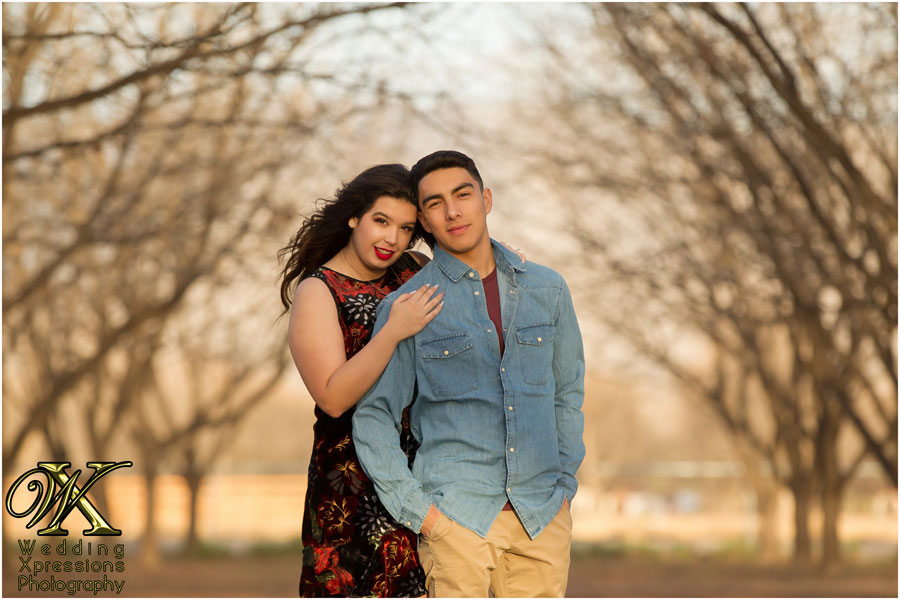engaged couple in El Paso