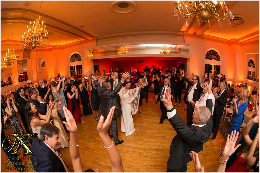 dancing during wedding at El Paso Country Club