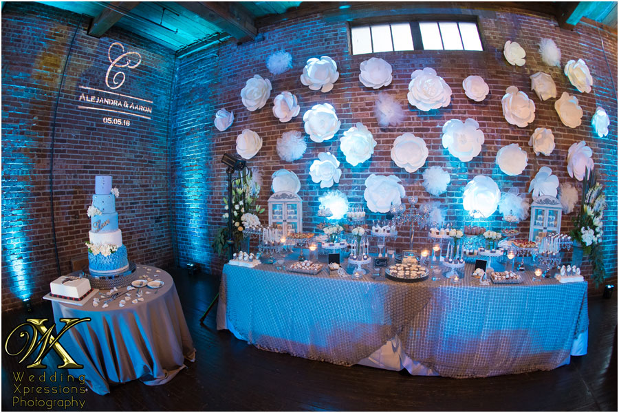 wedding candy table at Epic Railyard