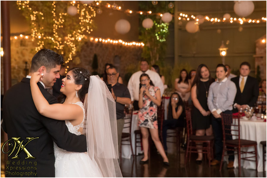 wedding first dance at 150 Sunset in El Paso Texas
