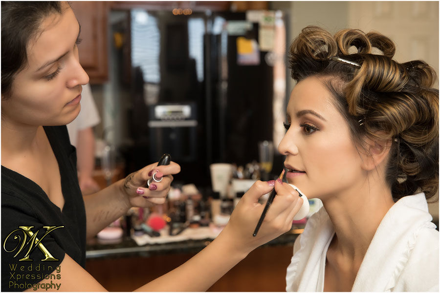 makeup on wedding day