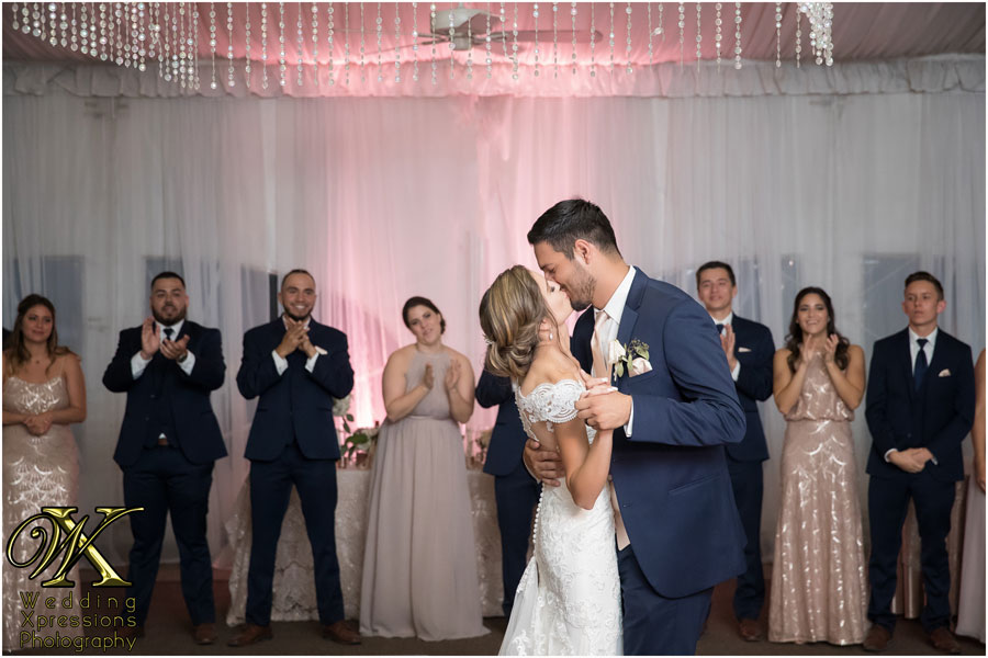 wedding first dance at Grace Gardens